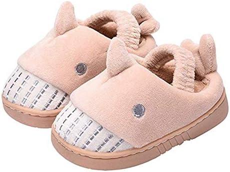 Zapatillas de casa de invierno para niños Niños pequeños Zapatos de algodón antideslizantes para interiores Zapatos ...