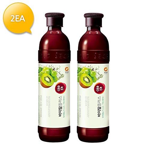(NEW) Hongcho Vital Plus Kiwi & Grape Vinegar Drink (Pack of 2)