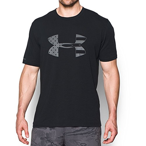 Freedom Mens Tee (Under Armour Men's Freedom BFL T-Shirt, Black/Graphite,)