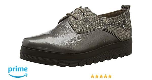 24 HORAS 23830, Zapatos de Cordones Oxford para Mujer, Gris (Fango 11), 36 EU: Amazon.es: Zapatos y complementos