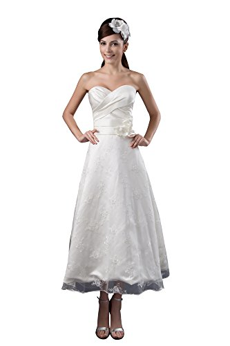VogueZone009 Womens Sweetheart Pongee Satin Formal Dress with Floral, ColorCards, 16 by VogueZone009