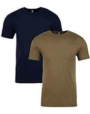 N6210 T-Shirt, Midnight + Military Green (2 Pack), X-Large