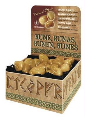 AzureGreen DRUNGQ Golden Quartz Rune Set