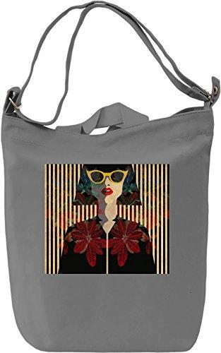 70's Girl Borsa Giornaliera Canvas Canvas Day Bag| 100% Premium Cotton Canvas| DTG Printing|