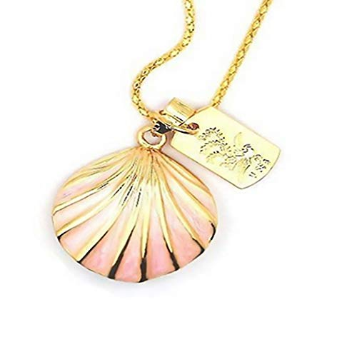 Rrunzfon 8GB Pink Sea-Shell Style USB Flash Drive with Necklace