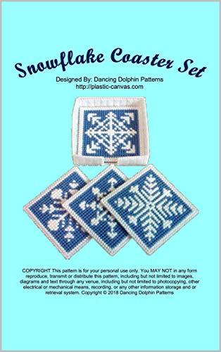 Snowflake Coaster Set: Plastic Canvas Pattern