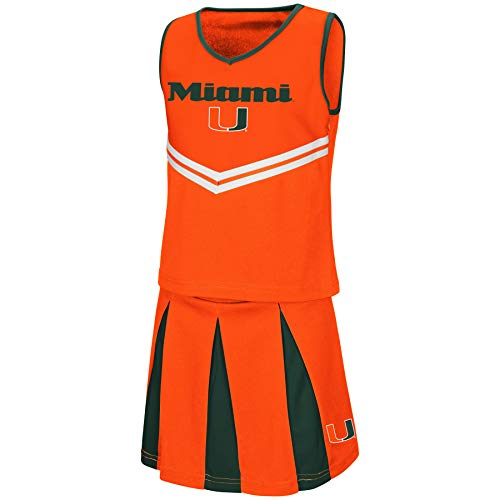 Colosseum Youth NCAA-Girls Cheer Set-Miami Hurricanes-Youth Medium