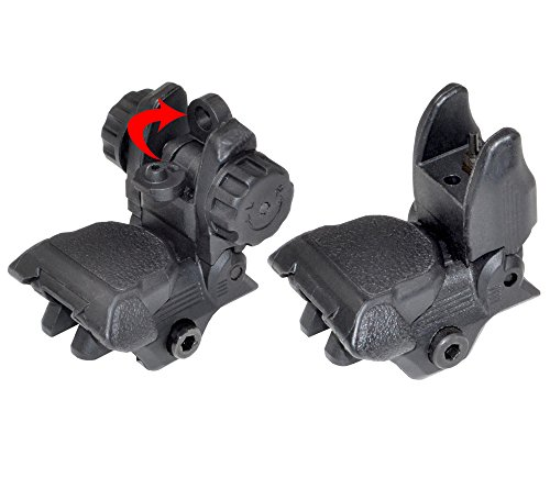 SNIPER Polymer Smart Flip-up Back-down Front/Rear Sight Combo Set ...