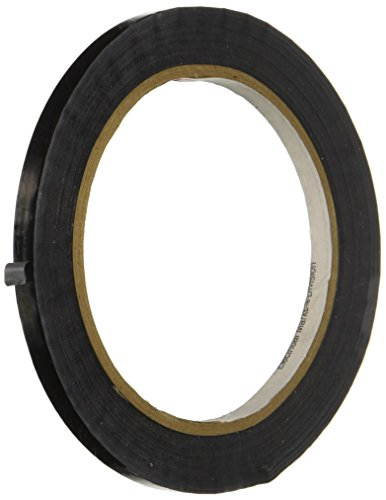 3M 1350F-1 Black Electric Tape - 0.25 in. x 216 ft. Flame Retardant, Polyester Film Tape Roll with High Dielectric Strength