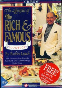 The Lifestyles Of The Rich & Famous Cookbook By Robin Leach (Win/ DOS)