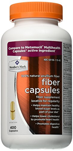 Member's Mark Fiber Capsules Fiber Supplement 400 Count