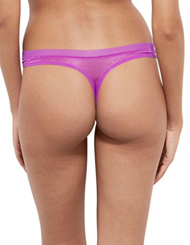 Gossard 6276 Women's Glossies Purple Cactus Flower Panty Thong