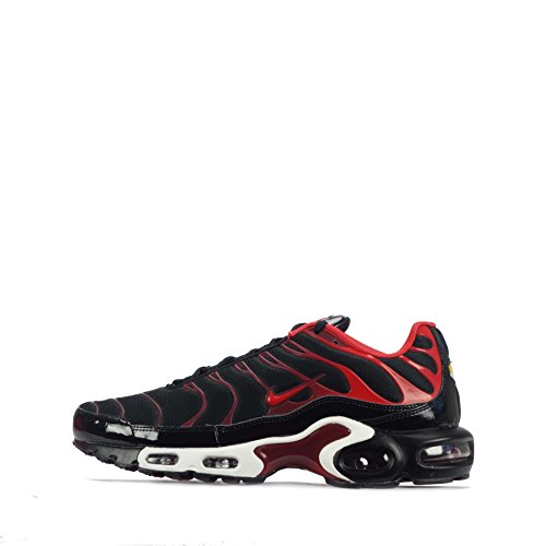 Nike Air Max Plus Scarpe Da Ginnastica Da Uomo 852630 Scarpe Da Ginnastica Nere Università Rosso Squadra Rossa 008