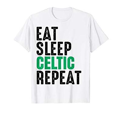Celtic Eat Sleep Repeat Tee Gift T-Shirt