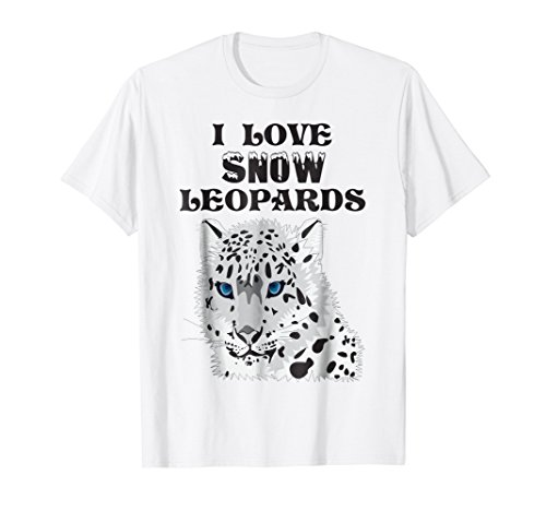 I LOVE SNOW LEOPARDS T-SHIRT MENS WOMENS YOUTH & KIDS
