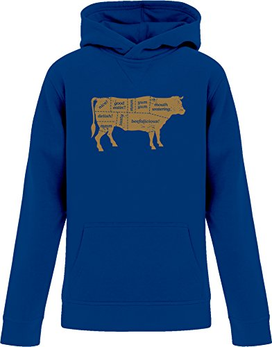 Price comparison product image BSW YOUTH Beef Labels BBQ Cuts Steak Sirloin Cow Premium Hoodie LRG Royal