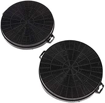 2 Filtro de carbón Filtro de carbón activado Campana extractora para hidromasaje de Bauknecht 481281728343 484000008579 CHF210/1 210 mm B210: Amazon.es: Grandes electrodomésticos