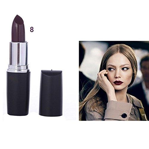 - SMYTShop Vampire Style 8 Colors Waterproof Long Lasting Lipstick (Maroon)