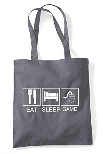Shopper Eat Game Tiles Funny Grey Mouse Activity Pc Dark Tote Hobby Bag Sleep 664nrZv