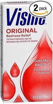 Visine Original Redness Reliever Eye Drops - 0.5 oz, Pack of 2