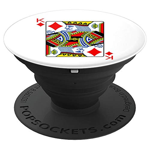 King Of Diamonds Playing Card Group Costume Poker Player PopSockets Grip and Stand for Phones and Tablets]()