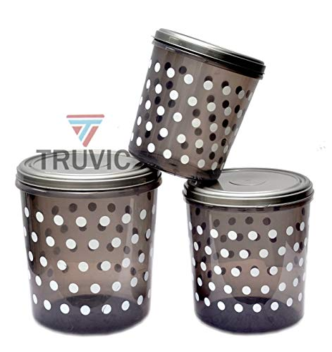 Truvic Safe Plastic Medium Container, 3 PC (Capacity – 5ltrs, 7ltrs & 10ltrs) Multy Color Price & Reviews