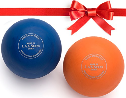 Massage Balls, Lacrosse Balls By LAX Stars - High Quality Myofascial Tension Release, Fascia Release- Rubbing Balls For Feet- Trigger Point Therapy Balls, Muscle Knots, Yoga, Pilates,-Pack of 2 Balls