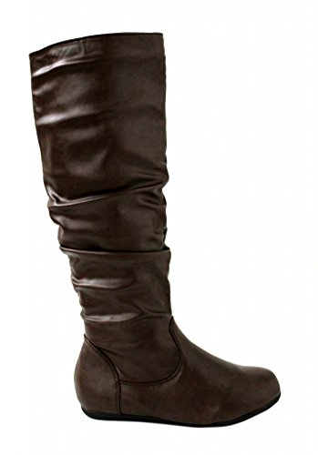 Rockland Footwear Women's Amy-31 Slouch Mid Calf Flat Riding Boots 9