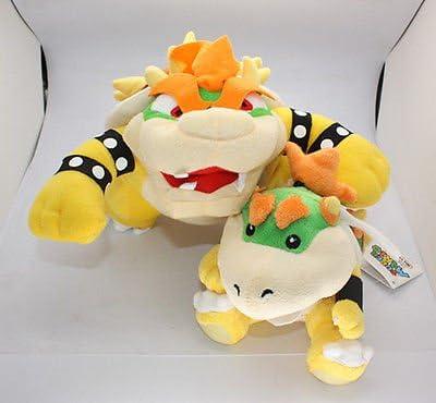 Super Mario Bros King Koopa juguete de peluche con su hijo de ...
