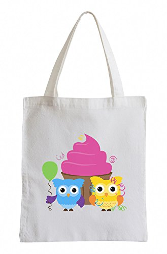 Owls Cupcake de jute Party amusant Sac Raxxpurl With fw1nxOT54q