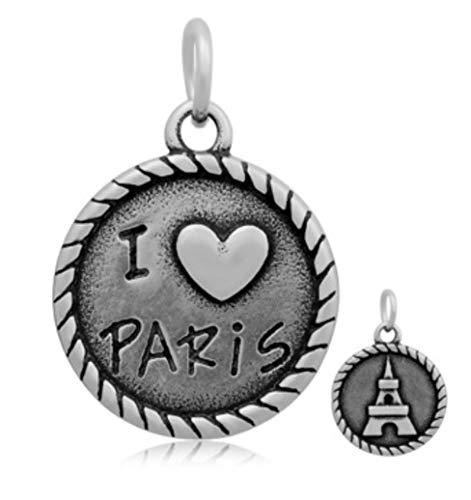 (J&M Dangle I Love Paris Charm for Bracelets)