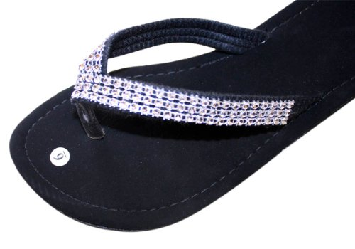 Flats Style Flip Thongs Flat Flops Sandal Sandals Beach Womens clear Rhinestone zwPqxa