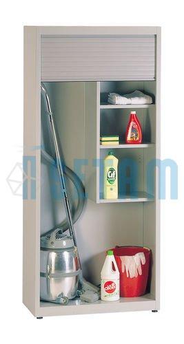 Placard à balais avec rideau coulissant: Amazon.fr: Bricolage