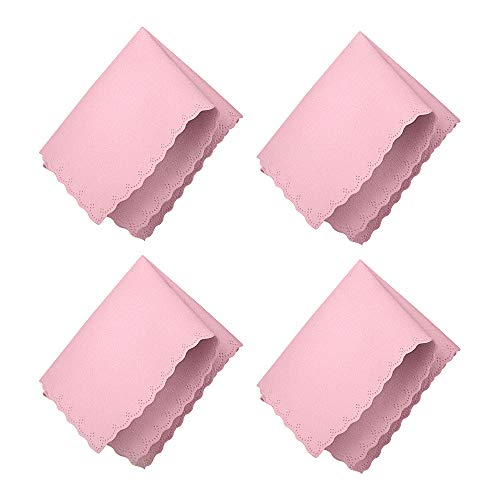 SURBUID Microfiber Cleaning Cloth for Electronics - Eyeglasses, Cell Phones, Tablets, LCD TV Screens and Laptop, Camera Lenses, Watches, Car GPS, Spectacles, Glasses, Monitor, Tablet 4-Pack (Pink)