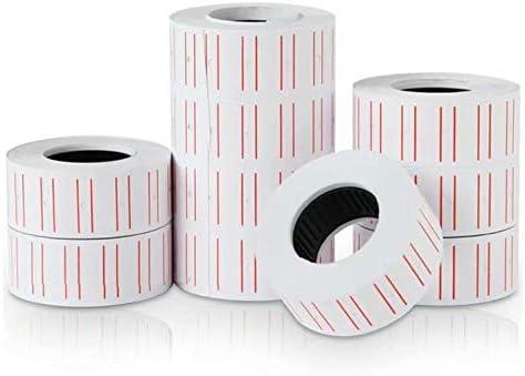 30 Rollos de Etiquetas de papel para pistola etiquetadora de precios MX-5500