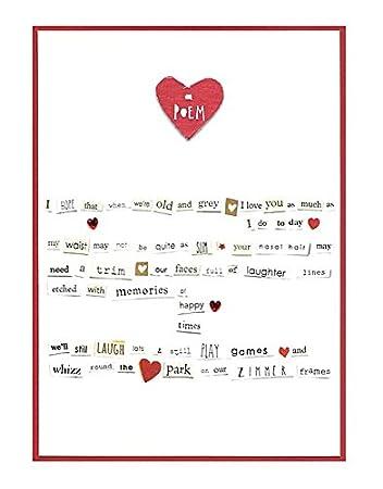 Gedicht Valentinstag Karte Von Zimt Aitch Cv424 Amazonde