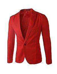 Legou Men's Slim Fit One Button Blazer Jacket