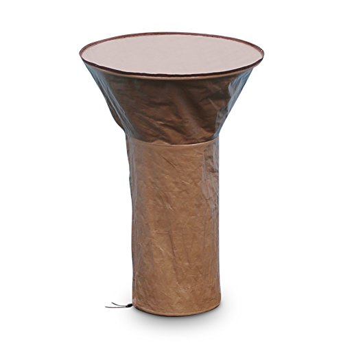 Abba Patio Heater Cover Round Table Top Patio Cover Waterproof, Brown (Tabletop Patio Electric Heater)