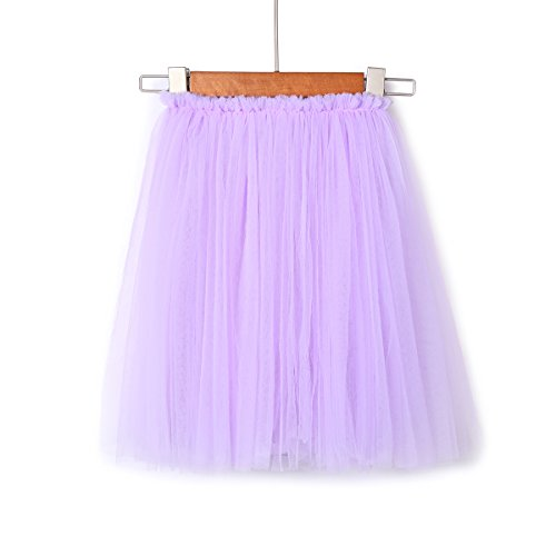 282a46fca Galleon - Flofallzique 6 Colors Toddler Skirt Princess Skirt Long Tulle  Party Skirt For Girls (4, Purple)