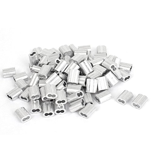 M3 6-Pcs Thimble M6 M3 4-Pcs 1//8 Inch Wire Rope Cable Clip//Clamp 8 Pack Wire Rope Aluminum Sleeve TooTaci Heavy Duty Wire Rope Tension Kits M3 2 Pack Turnbuckle//Tension