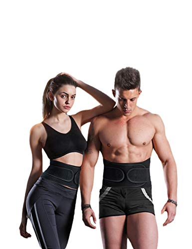 YuKing Waist Trainer Belt Waist Cincher Trimmer Slimming Body Shaper Belts Sport Girdle Back Support Workout Belt Double Compression Straps Weight Loss Fitness for Women and Men