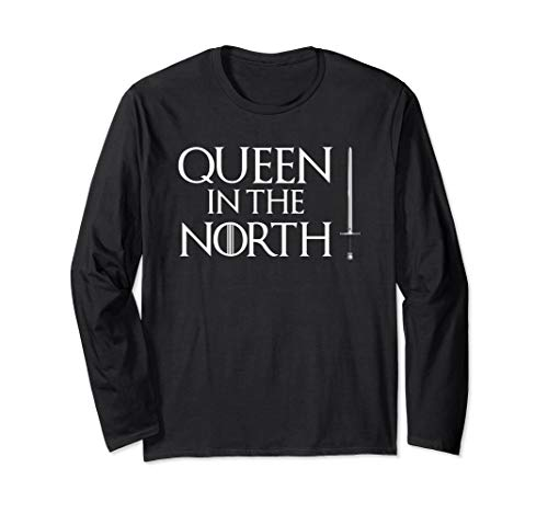 Queen In The North T-Shirt Long Sleeve Halloween Costume Tee -