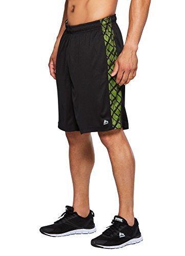 Dazzle Cloth Uniform - RBX Active Men's Training Athletic Gym Shorts Black w/Shocking Yellow M