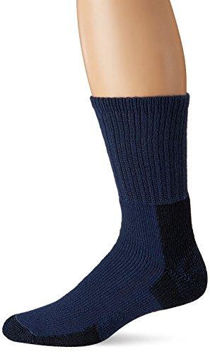 Thorlo KX Men's Thick Cushion Hiking Crew Socks, (Large) - Dark Blue
