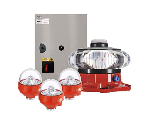 - FAA A1 LED Obstruction Lighting Kit from Avlite for Structures from 150' to 350' AGL, AC
