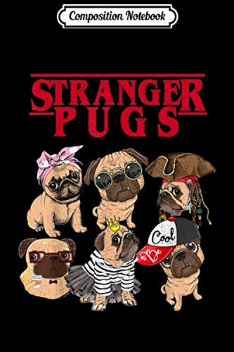 Halloween Gif Cute (Composition Notebook: Flix Stranger pugs Things Halloween costume gif Journal/Notebook Blank Lined Ruled 6x9 100)