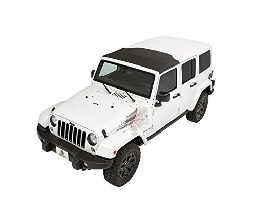 Bestop 52450-17 Black Twill Sunrider for Hardtop for 2007-2018 2-Door and Unlimited (Jeep Wrangler Unlimited Hardtop)