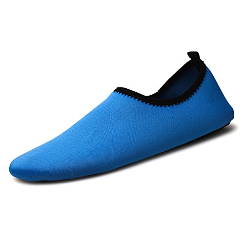 Kivors Womens And Mens Summer Outdoor Scarpe Da Sport Acquatici A Piedi Nudi Quick-dry Aqua Yoga Calze Slip-on Per Beach Swim Surf Yoga Esercizio Blu