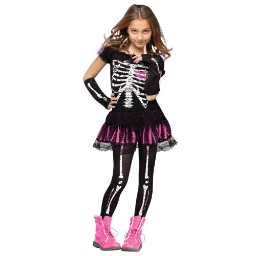 Sally Skelly Kids Costume