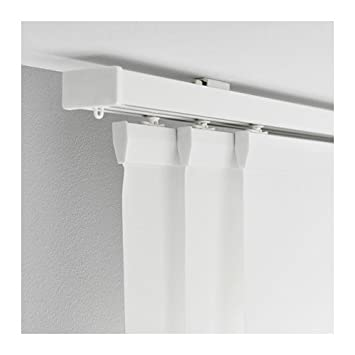 Amazonde Ikea Vidga Gardinenschiene In Weiß 3 Läufig 140cm